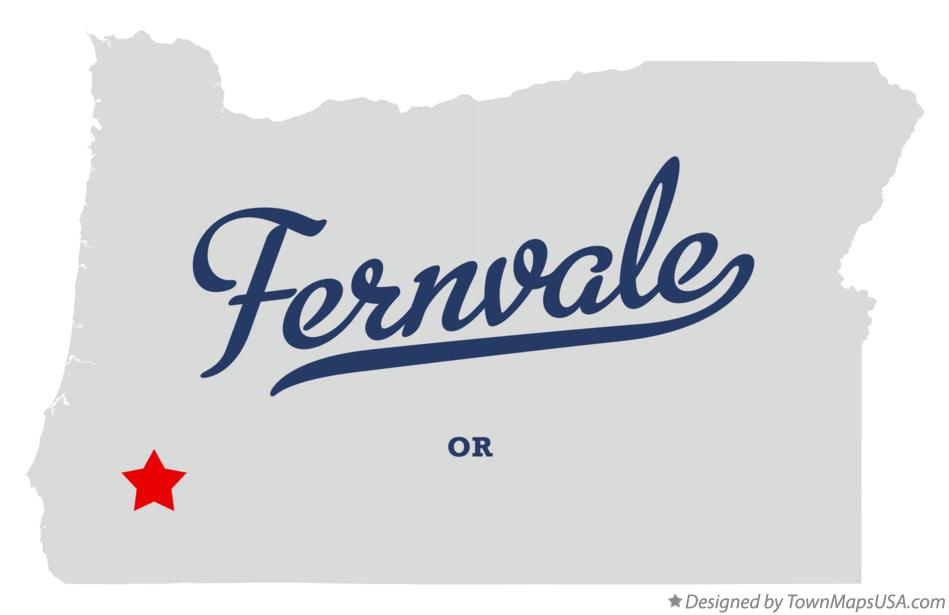 Map of Fernvale Oregon OR