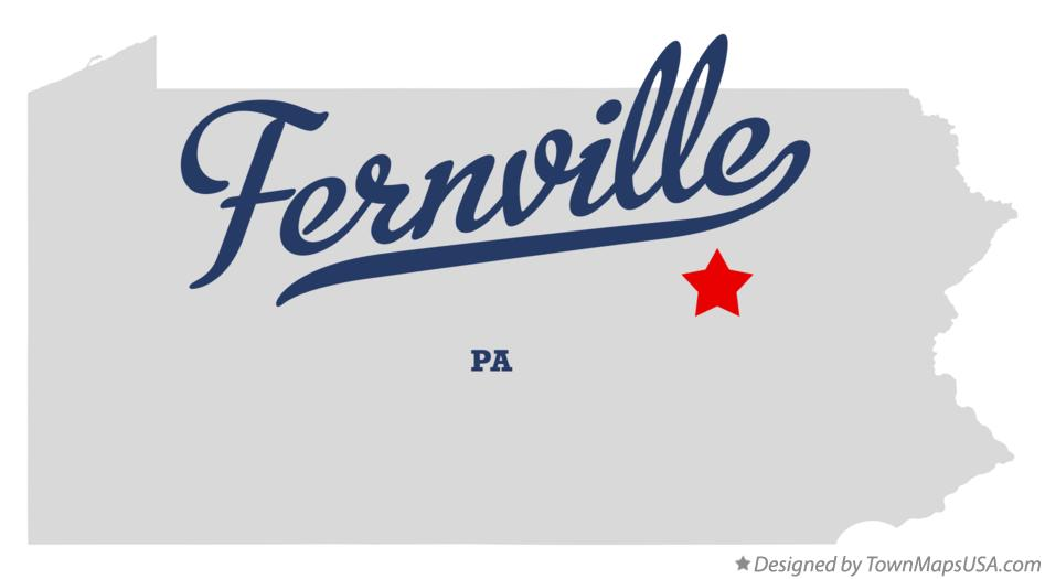Map of Fernville Pennsylvania PA