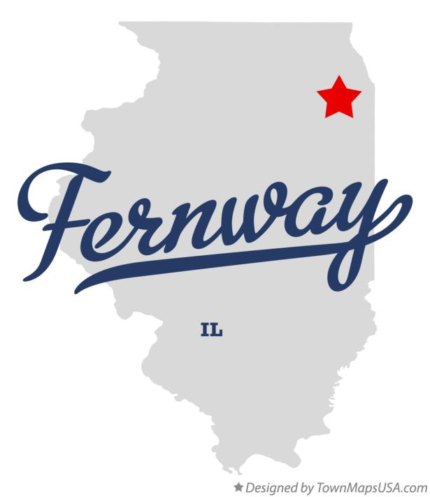 Map of Fernway Illinois IL