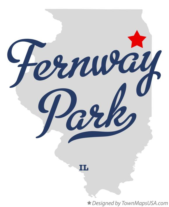Map of Fernway Park Illinois IL