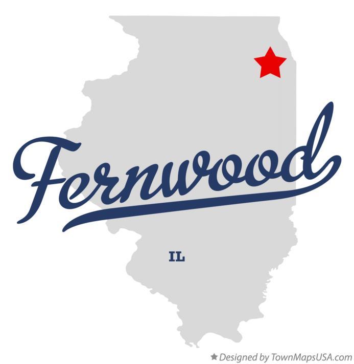 Map of Fernwood Illinois IL
