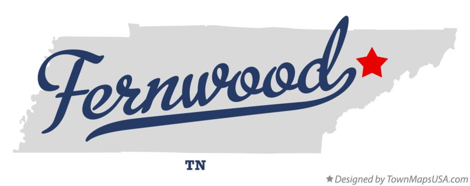 Map of Fernwood Tennessee TN