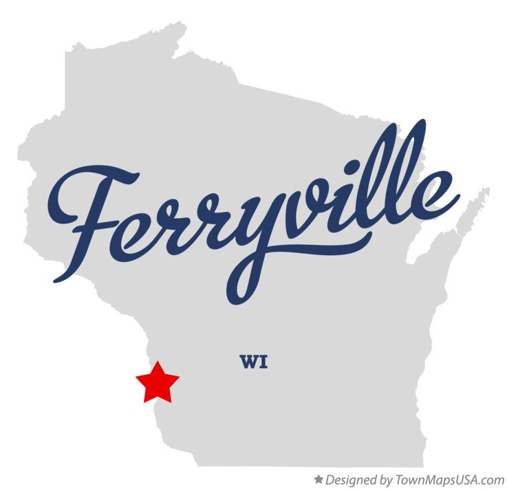 Map of Ferryville Wisconsin WI