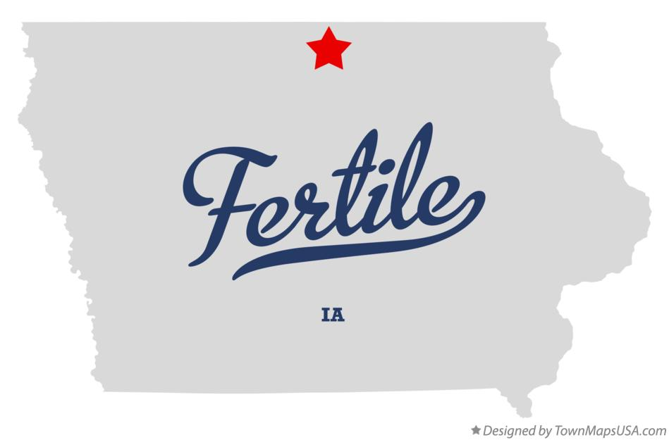 Map of Fertile Iowa IA