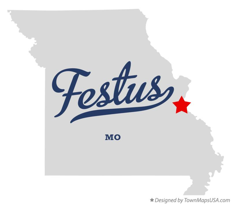 Map of Festus Missouri MO