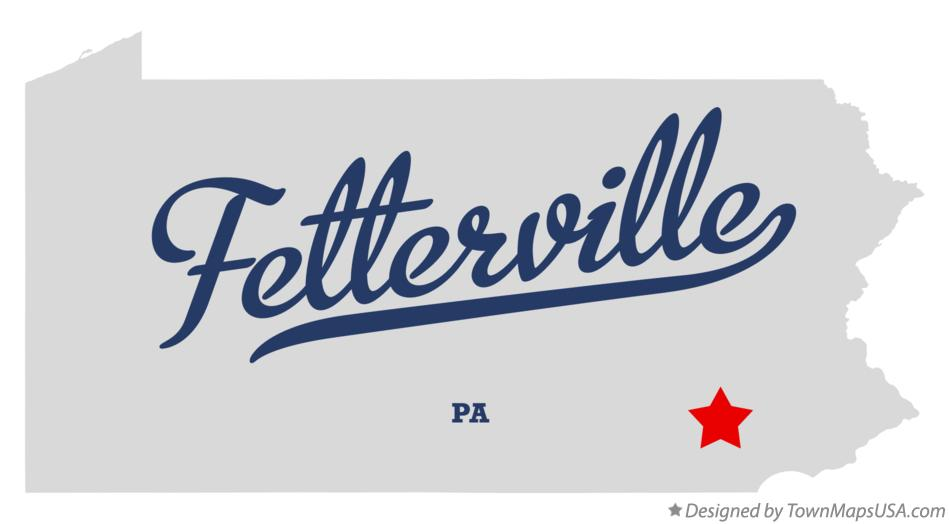 Map of Fetterville Pennsylvania PA