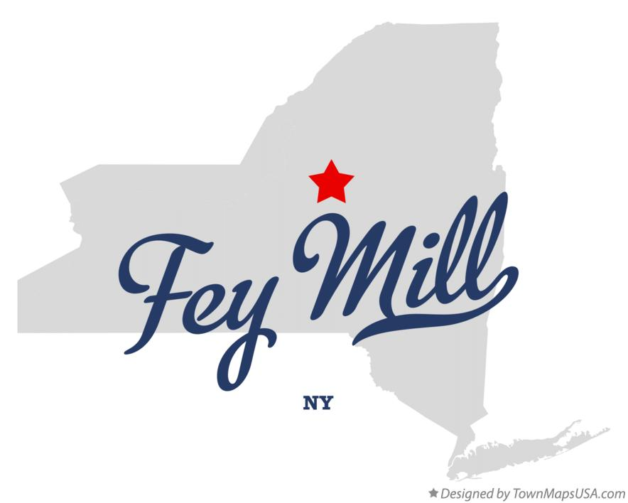 Map of Fey Mill New York NY