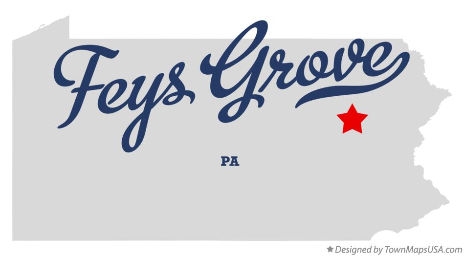 Map of Feys Grove Pennsylvania PA