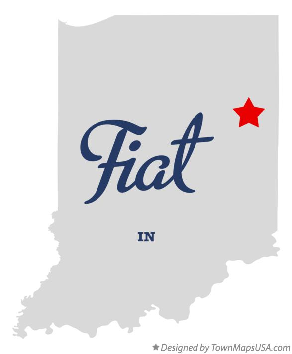 Map of Fiat Indiana IN