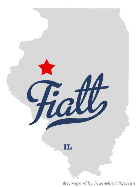 Map of Fiatt Illinois IL