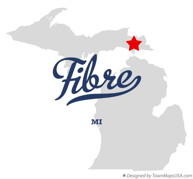 Map of Fibre Michigan MI
