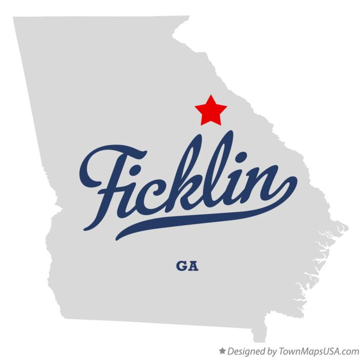 Map of Ficklin Georgia GA