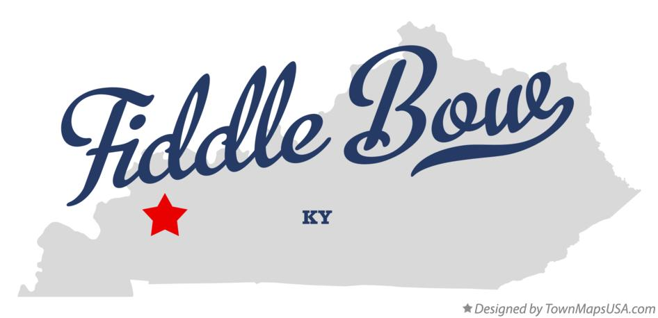 Map of Fiddle Bow Kentucky KY