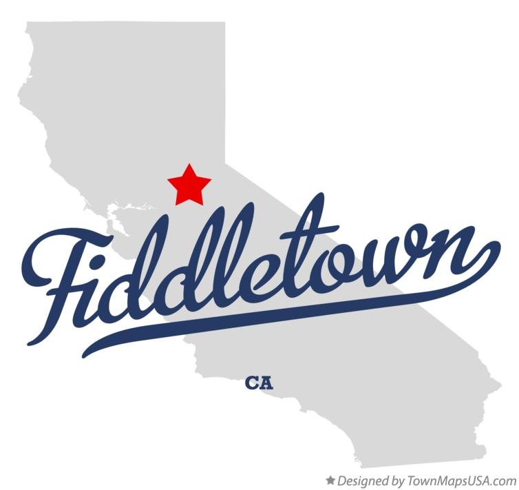 Map of Fiddletown California CA