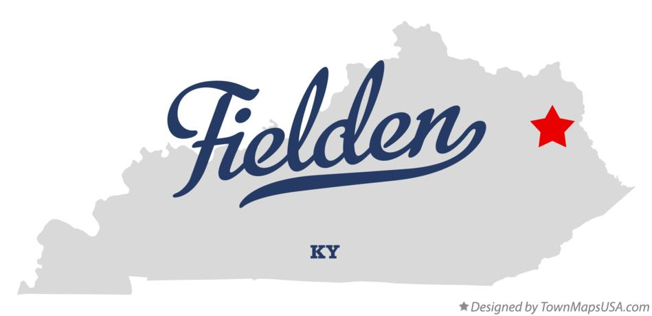 Map of Fielden Kentucky KY