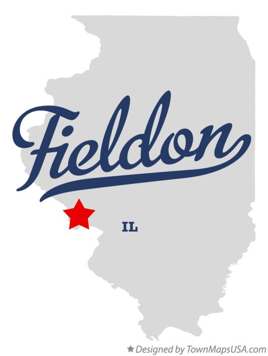 Map of Fieldon Illinois IL