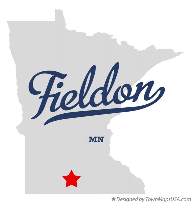 Map of Fieldon Minnesota MN