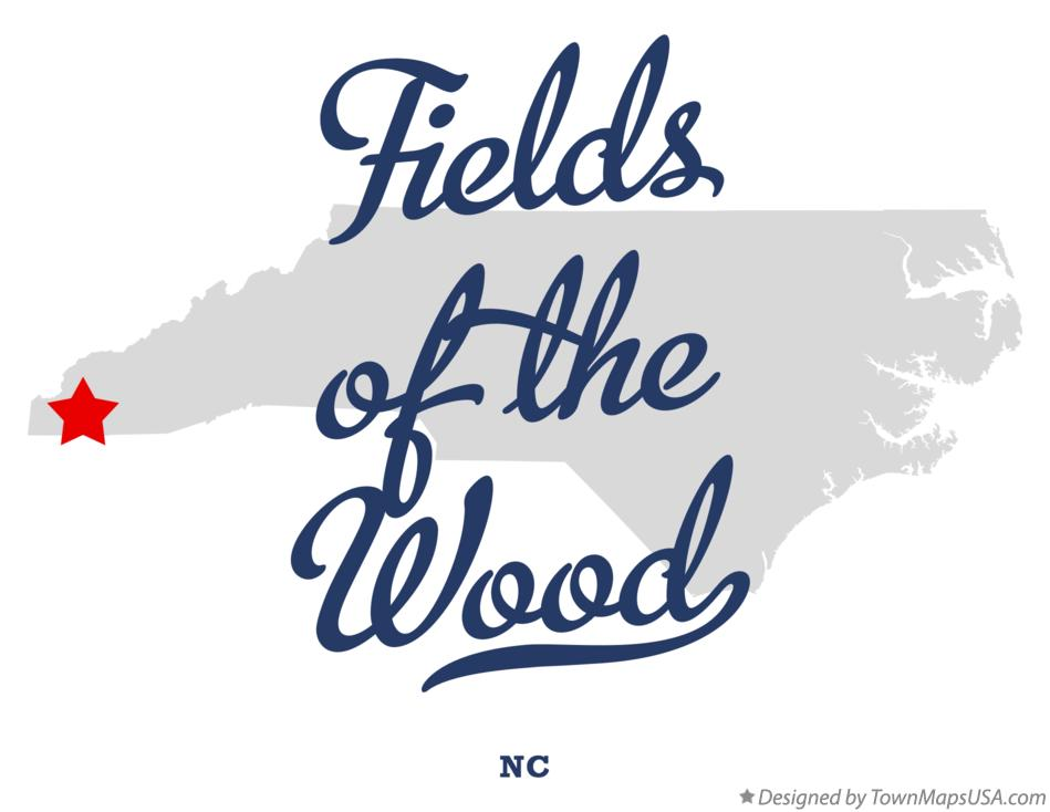 Map of Fields of the Wood North Carolina NC