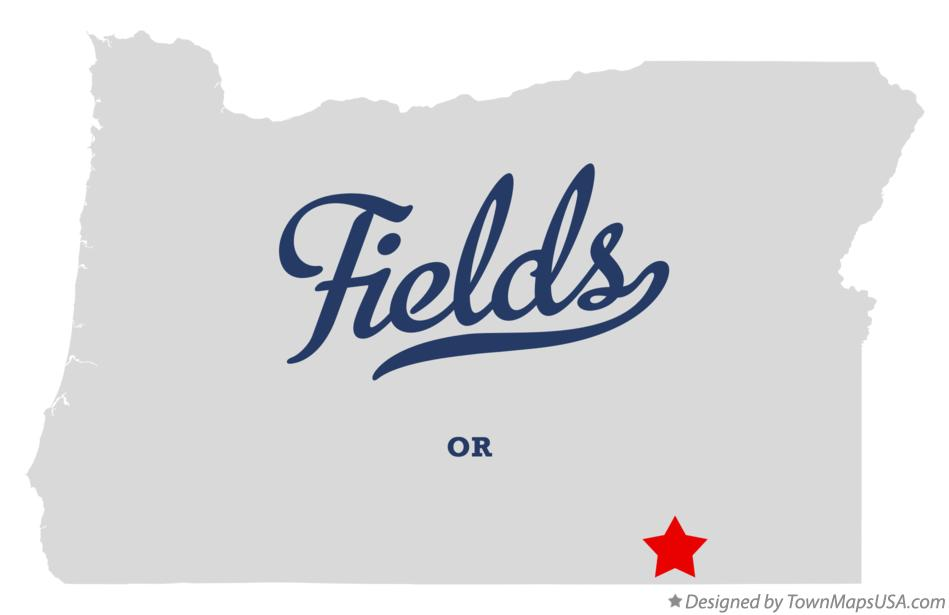 Map of Fields Oregon OR