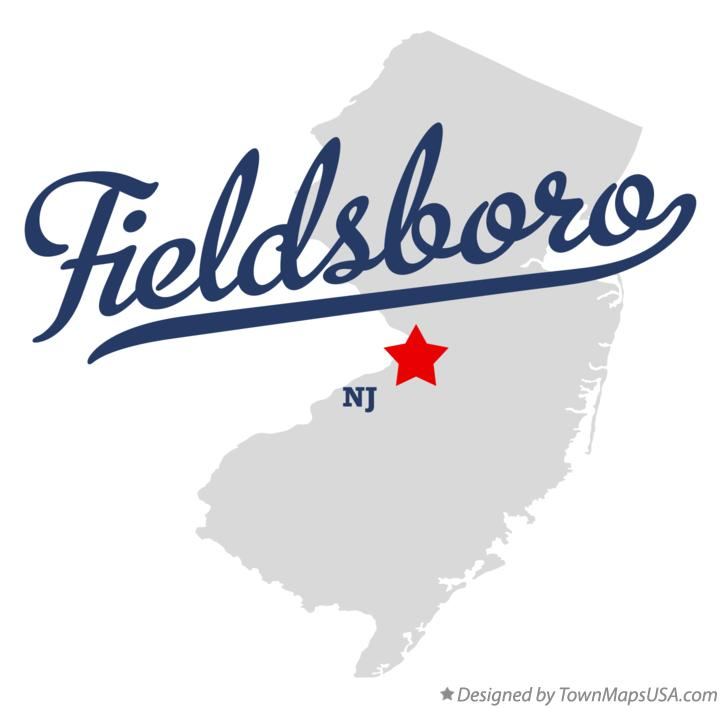 Map of Fieldsboro New Jersey NJ