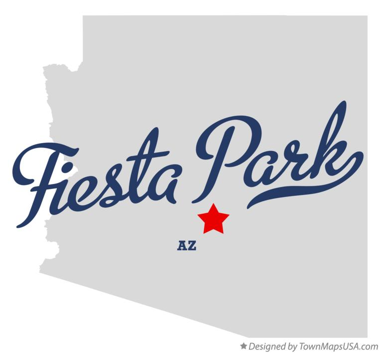 Map of Fiesta Park Arizona AZ