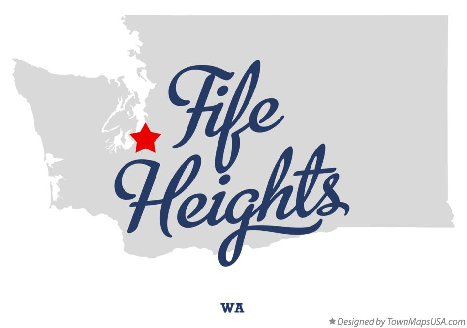 Map of Fife Heights Washington WA