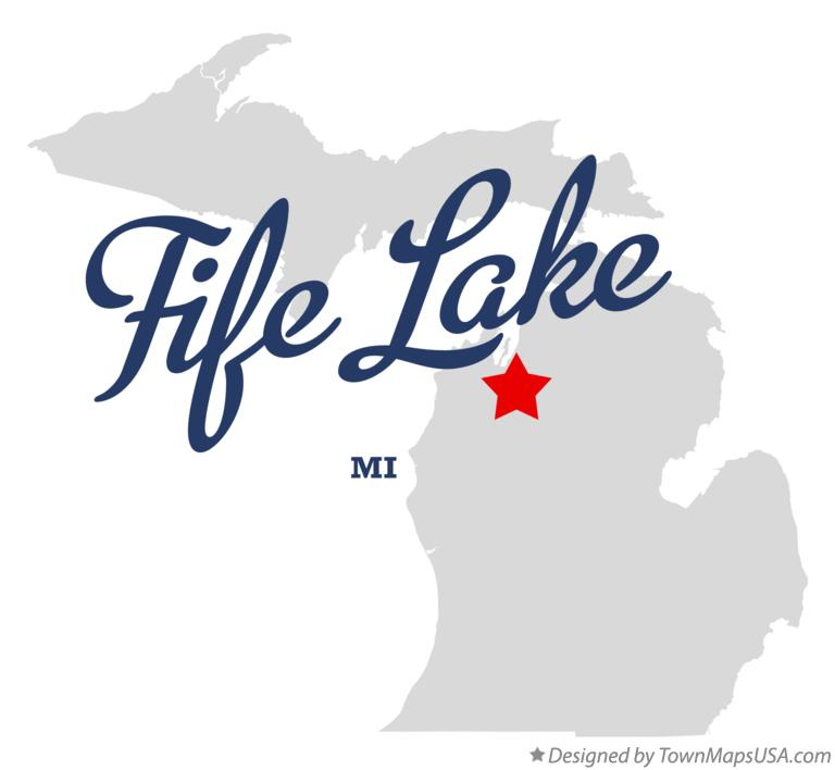 Map of Fife Lake Michigan MI