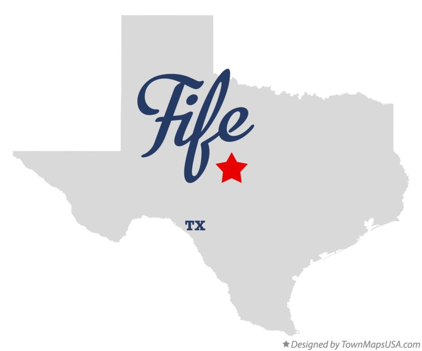 Map of Fife Texas TX