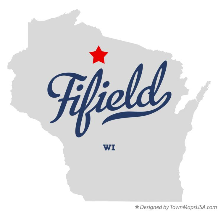 Map of Fifield Wisconsin WI