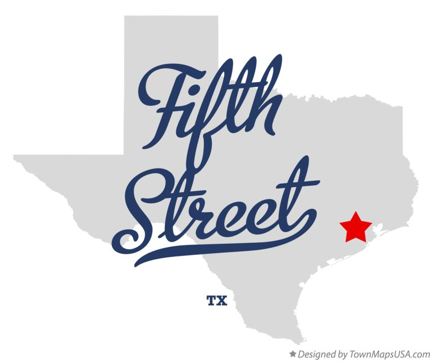Map of Fifth Street Texas TX