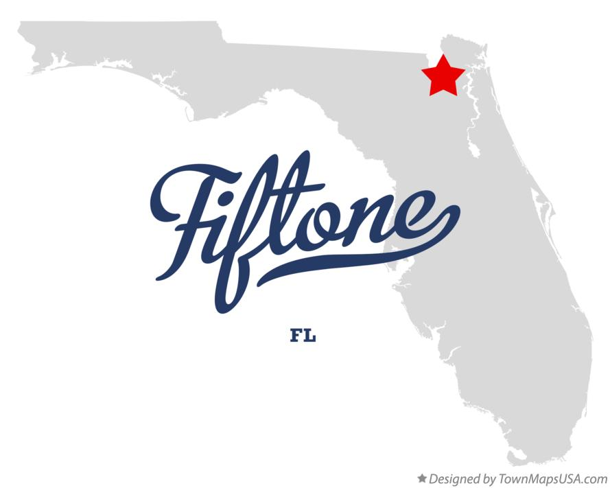 Map of Fiftone Florida FL