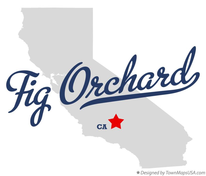 Map of Fig Orchard California CA