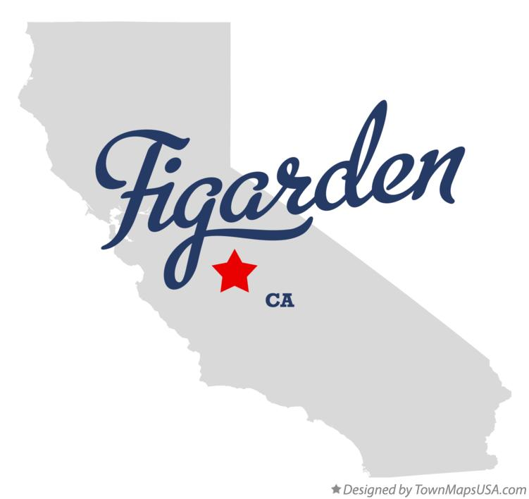 Map of Figarden California CA