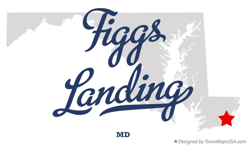 Map of Figgs Landing Maryland MD