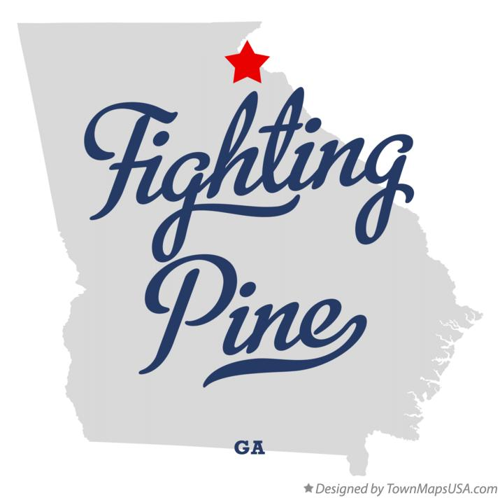 Map of Fighting Pine Georgia GA