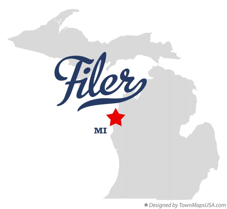 Map of Filer Michigan MI