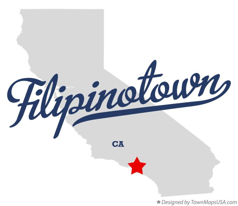 Map of Filipinotown California CA