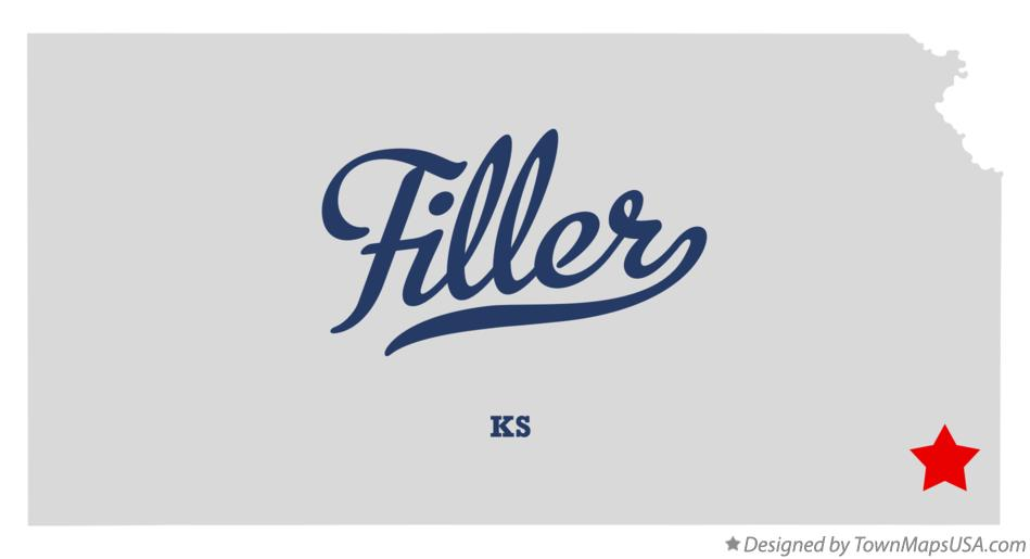 Map of Filler Kansas KS