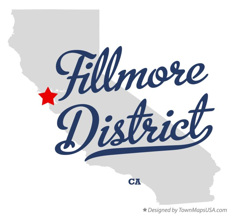 Map of Fillmore District California CA