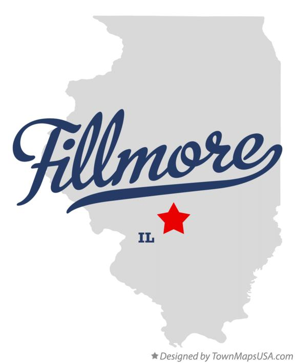 Map of Fillmore Illinois IL