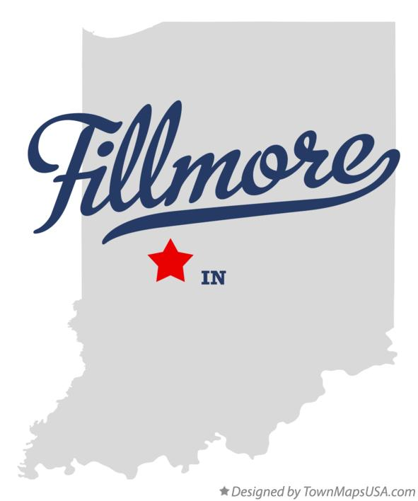 Map of Fillmore Indiana IN