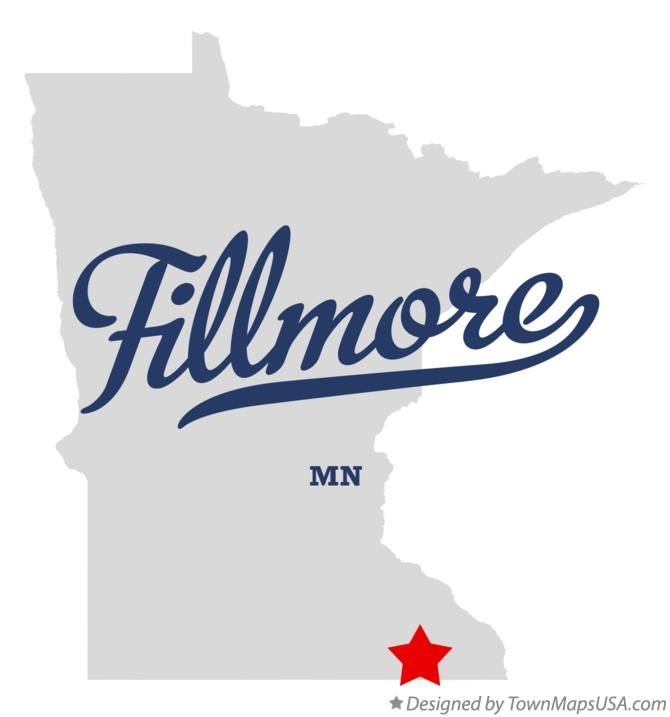 Map of Fillmore Minnesota MN
