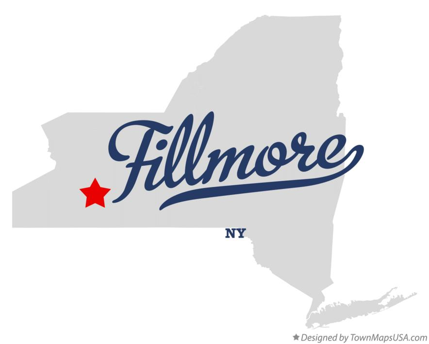 Map of Fillmore New York NY
