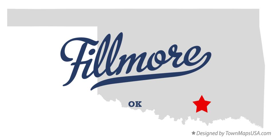 Map of Fillmore Oklahoma OK