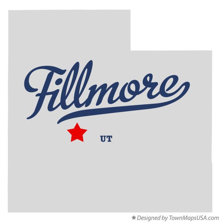 Map Of Fillmore Ut Utah
