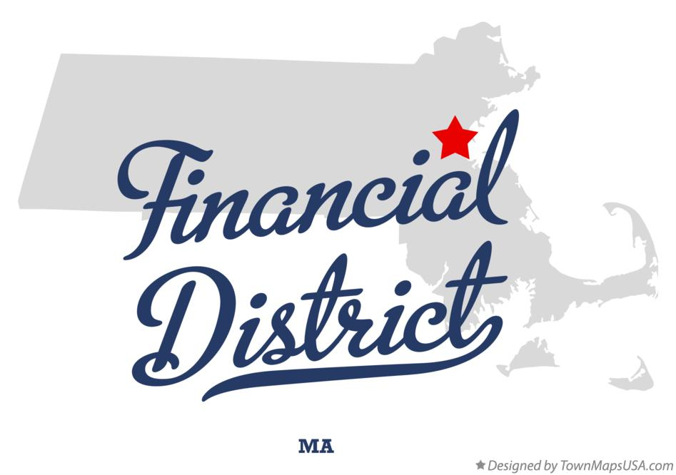 Map of Financial District Massachusetts MA
