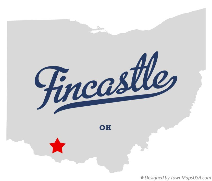 Map of Fincastle Ohio OH