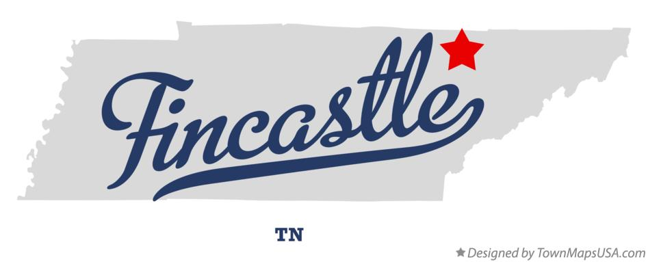 Map of Fincastle Tennessee TN