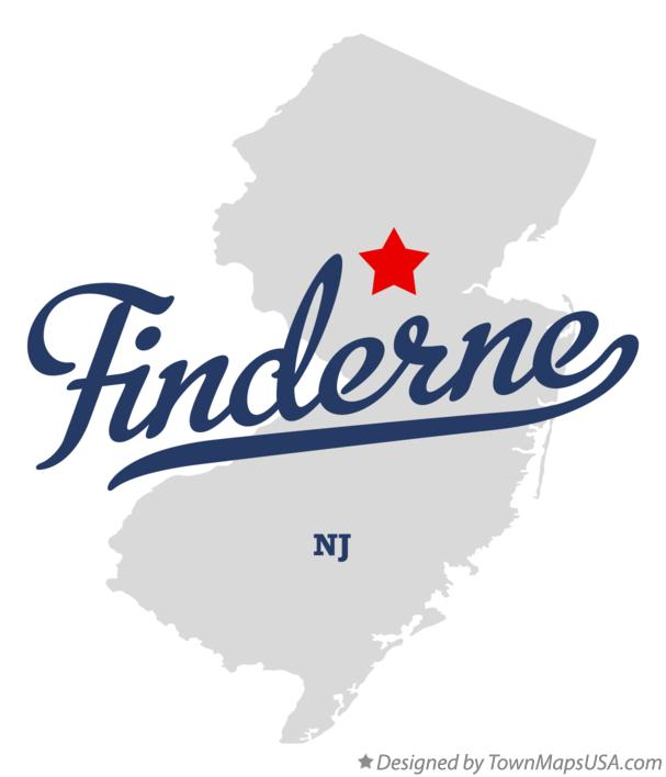 Map of Finderne New Jersey NJ