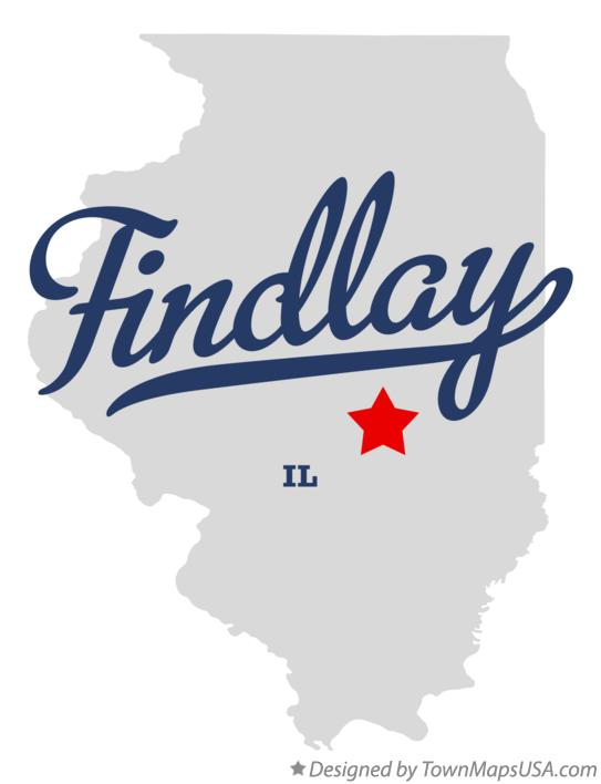 Map of Findlay Illinois IL